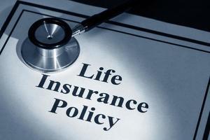 Apólice de seguro de vida foto