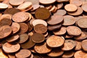 moedas de fundo. moedas de euro.