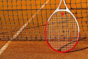 raquete de tênis foto