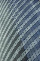 janelas do escritório corporativo de negócios