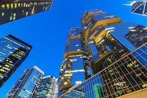 edifícios corporativos de hong kong foto
