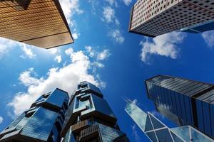 os edifícios corporativos de hong kong foto