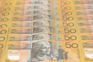 nota de moeda australiana de cinquenta dólares foto