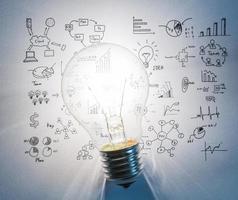lâmpada com desenho gráfico foto