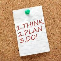 pense, planeje e faça! foto