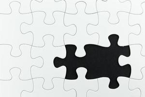 quebra-cabeça usar para plano de negócios foto