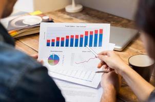 gráficos e tabelas de negócios