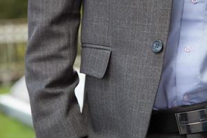 detalhe do homem de negócios foto
