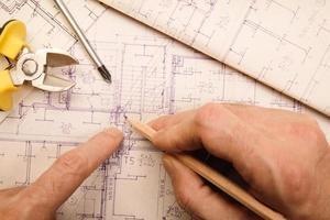 revendo um blueprint foto