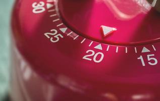 macro de um temporizador de cozinha - 20 minutos