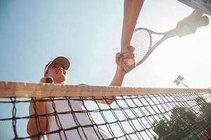 jogo limpo de tênis foto