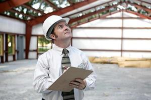 inspetor ou engenheiro de construção foto