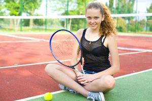 retrato de uma tenista foto