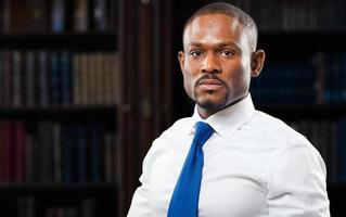 retrato de advogado preto foto