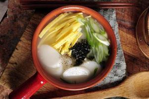 sopa de bolo de arroz foto