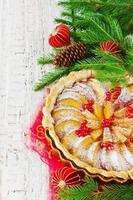 torta de maçã de natal foto