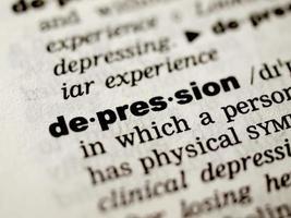 definição de depressão foto