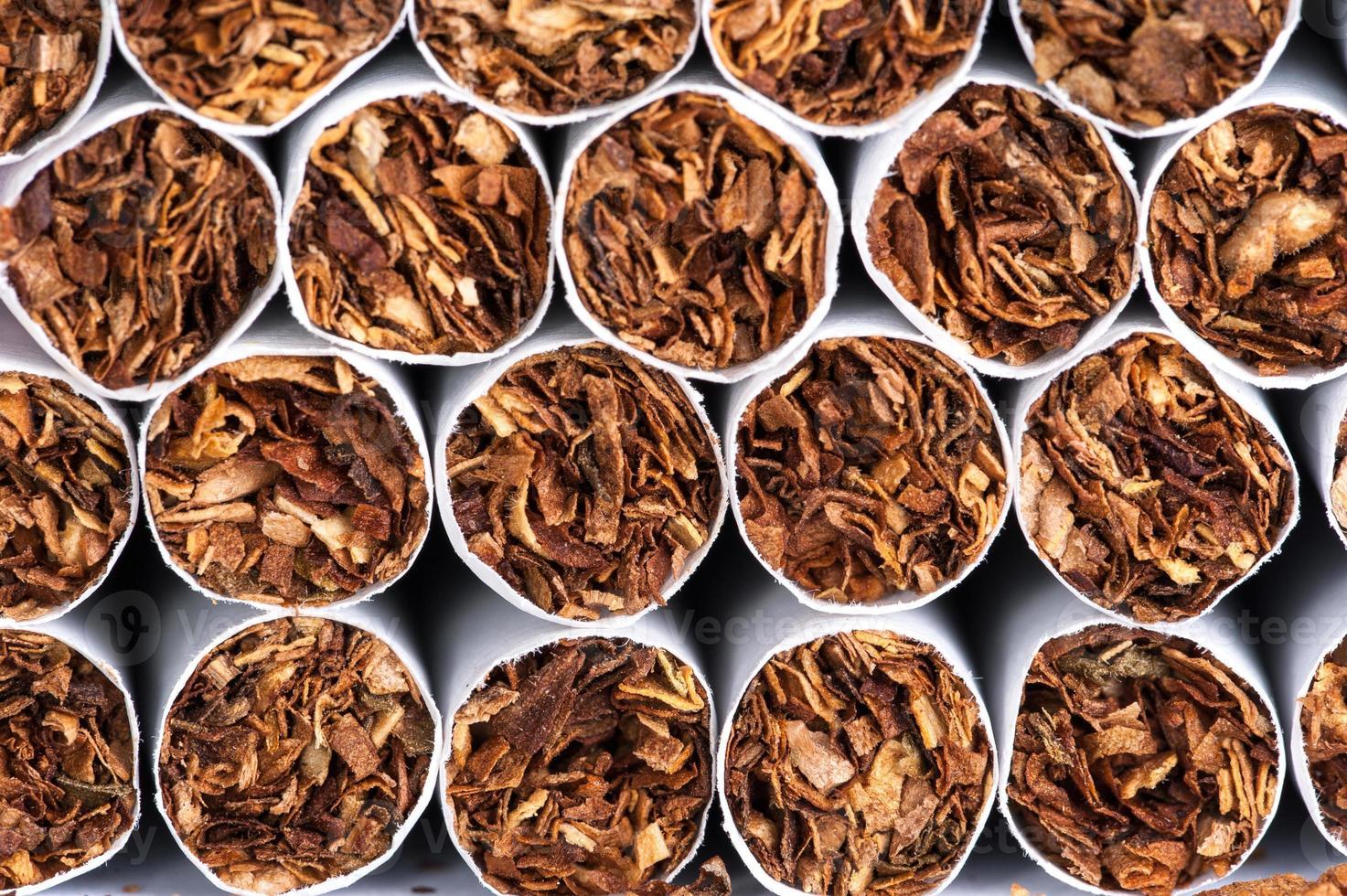 Tabak in Zigaretten foto