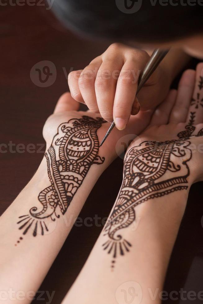 Kunst des Henna foto
