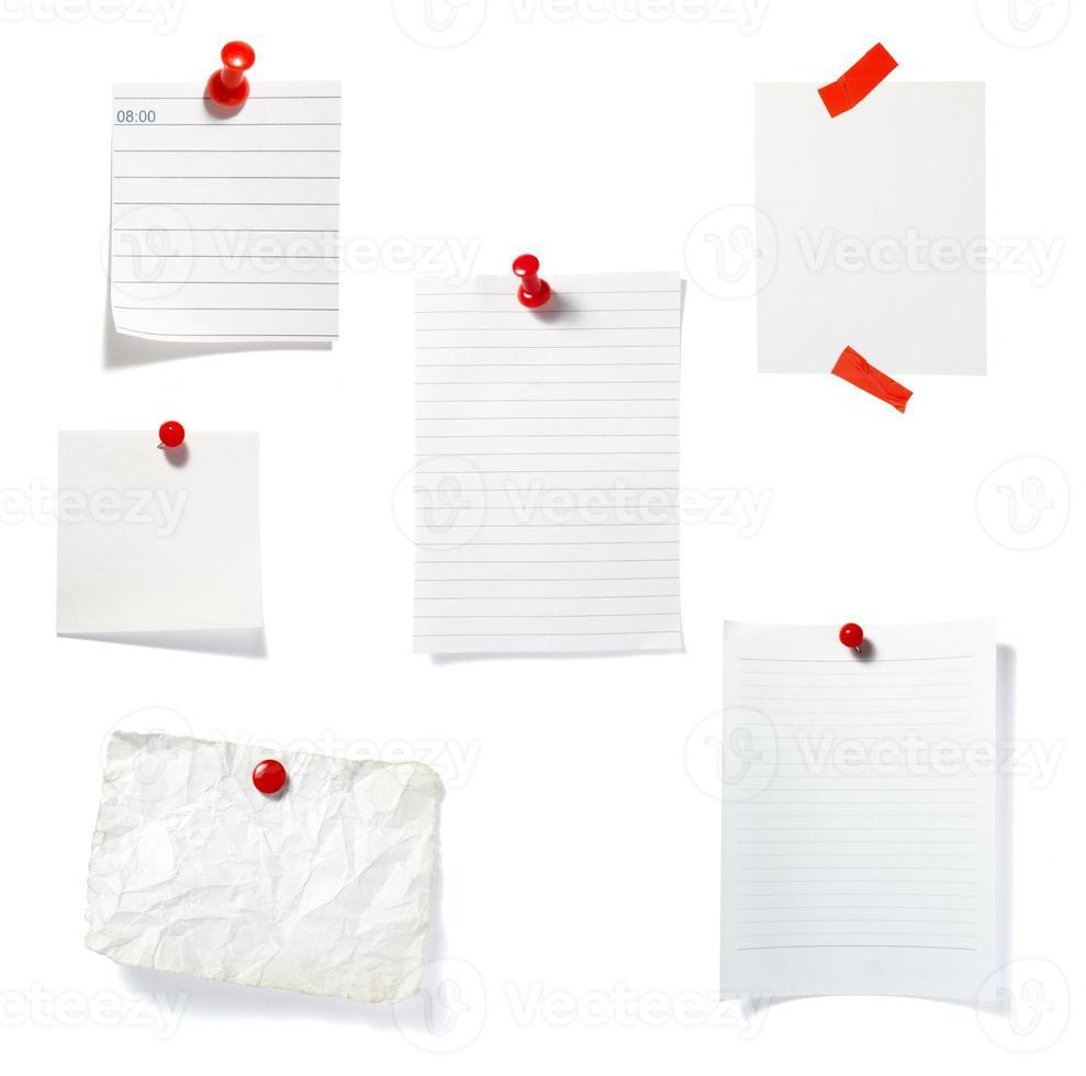 Notizpapier Erinnerung Bürogeschäft foto