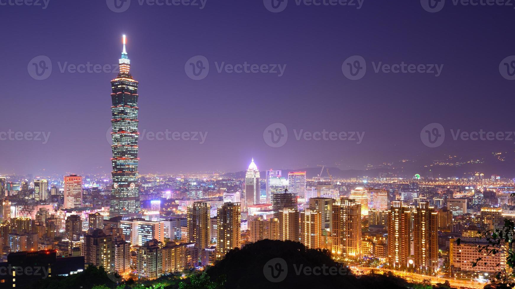 Skyline von Taipeh foto