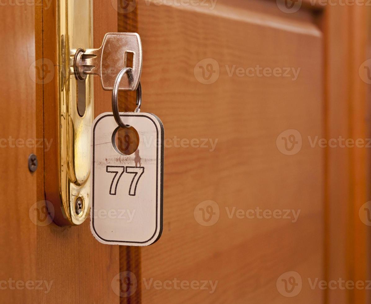 Schlüsselloch mit Nummer eingeben foto