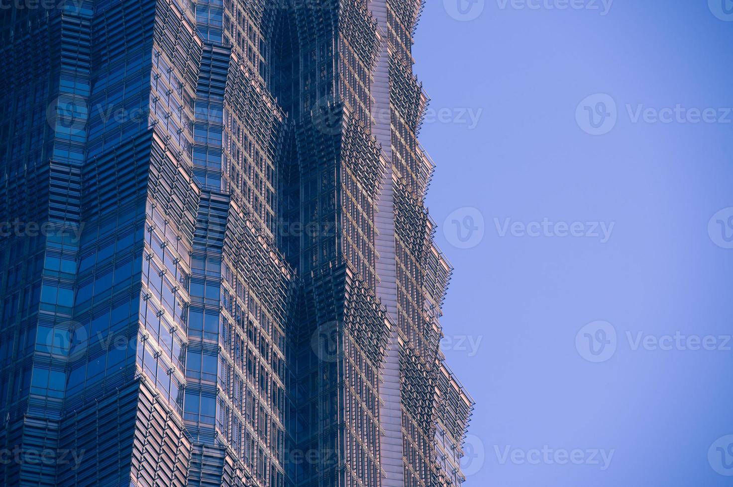 Wand von Bürogebäuden Nahaufnahme, Shanghai, der Jinmao-Turm foto