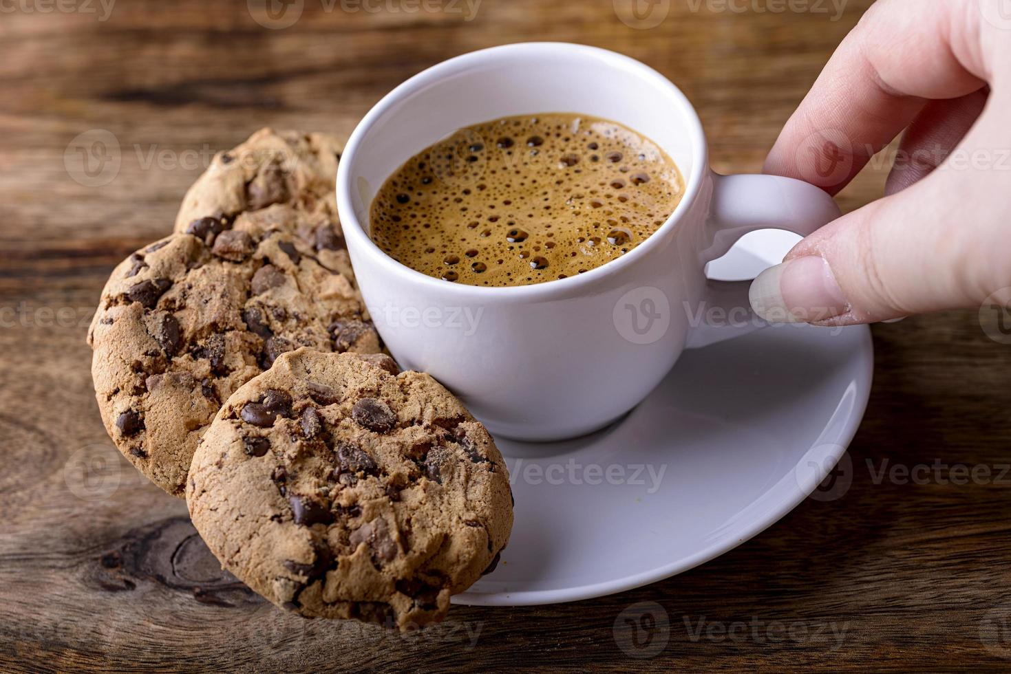 Kaffee mit Keksen foto