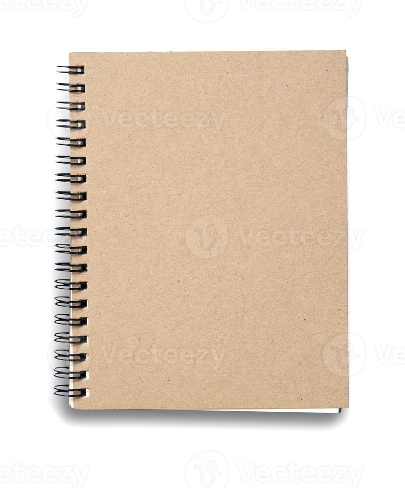 Notizbuch. strukturiert isoliert auf den weißen Hintergründen foto