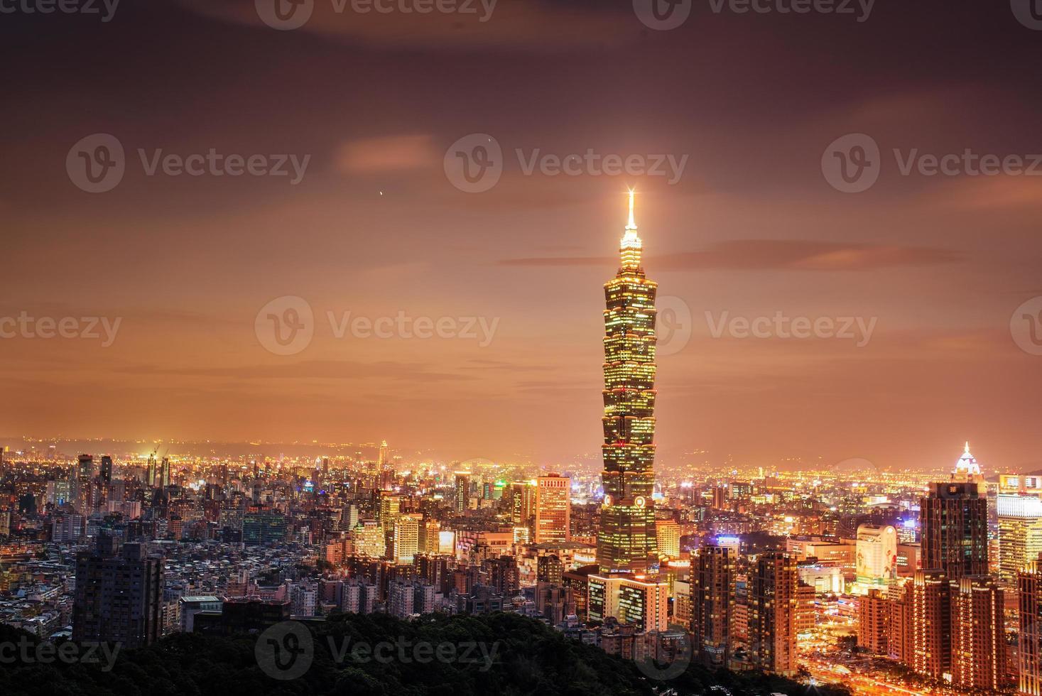 volle Ansicht der Stadt Taipeh foto