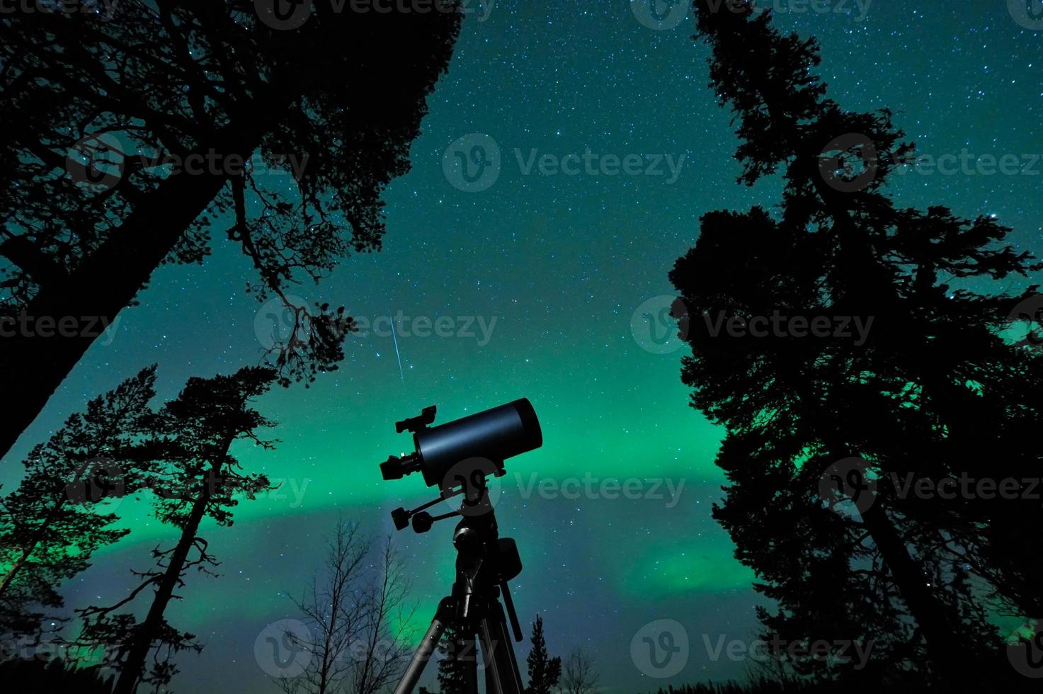 Teleskop und Himmel foto