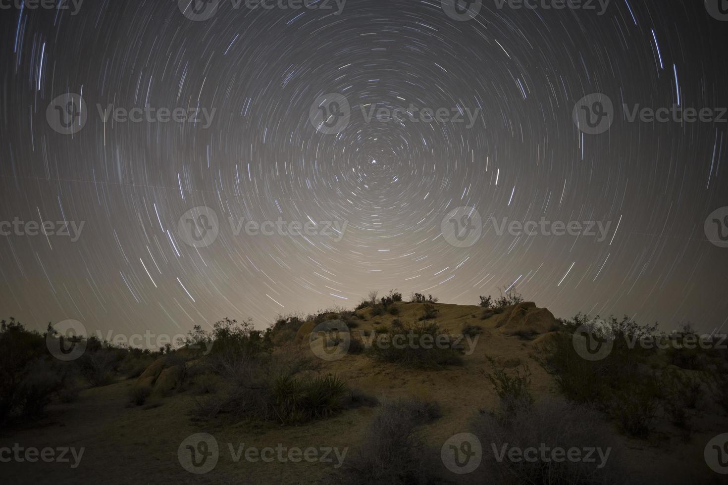 Mojave Wüste Nordstern Nacht foto