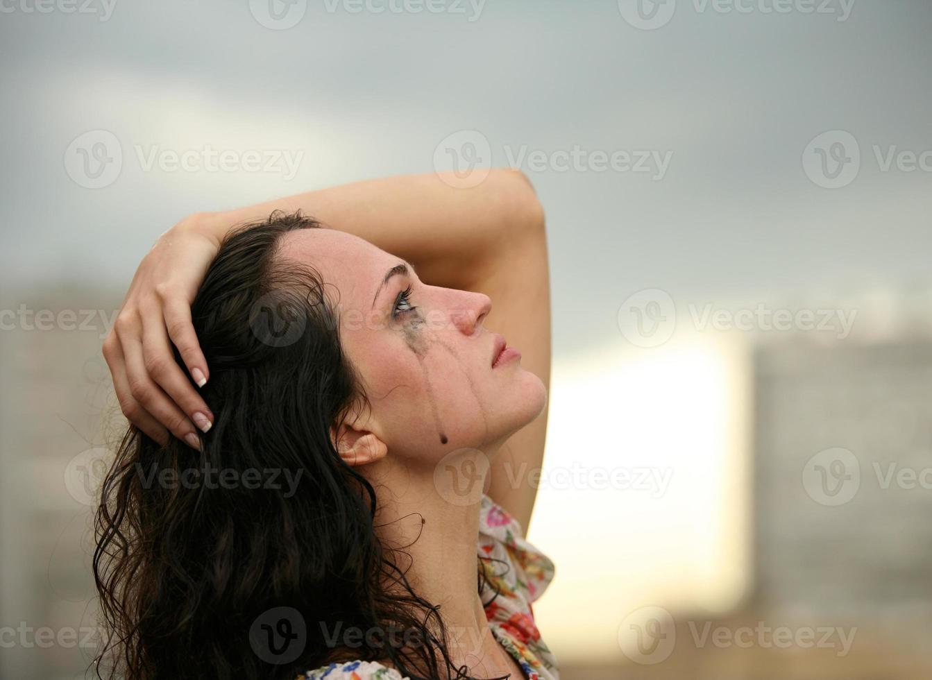 einsames Mädchen foto
