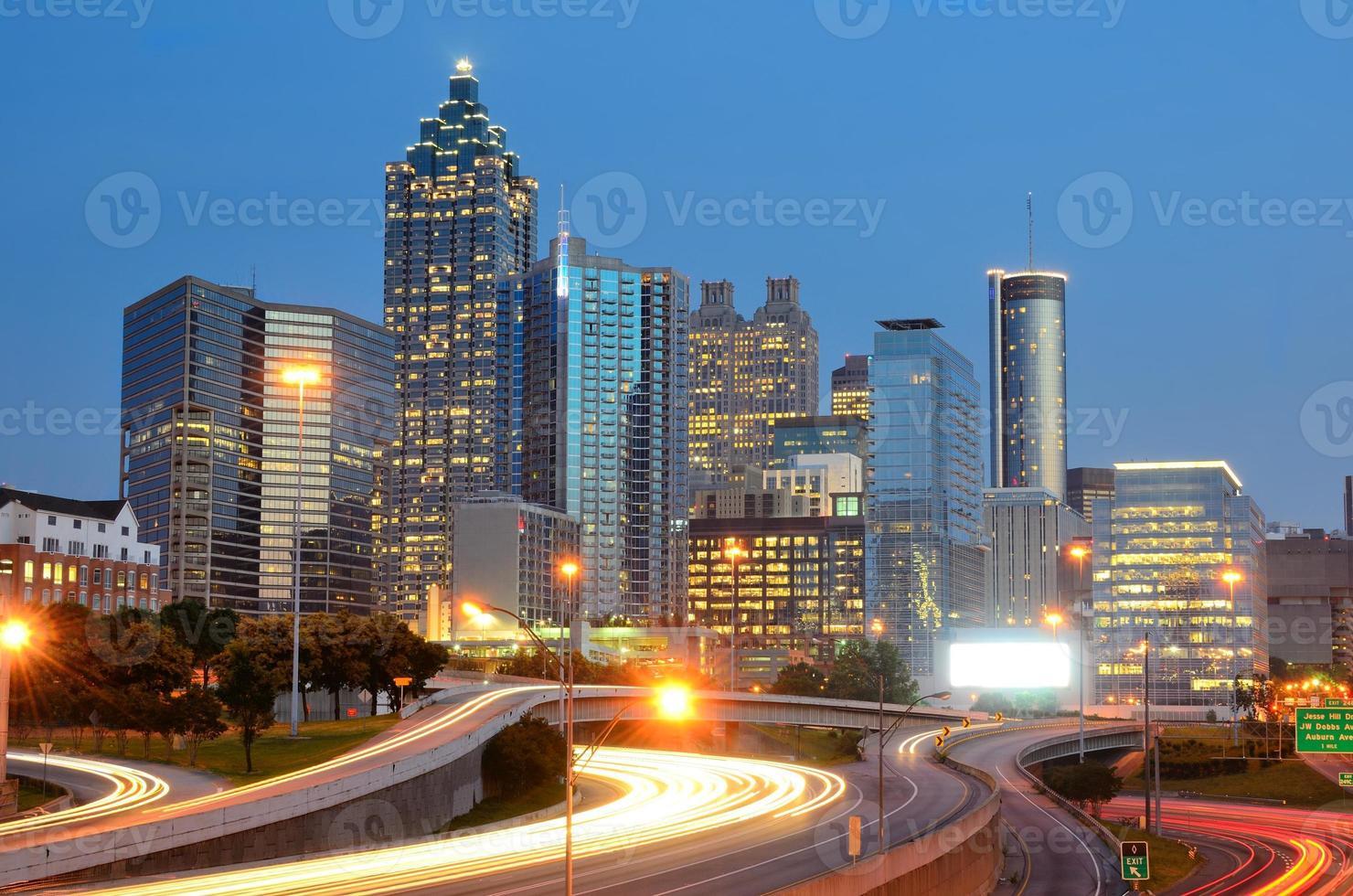 Landschaftsbild der Skyline von Atlanta in Georgien foto