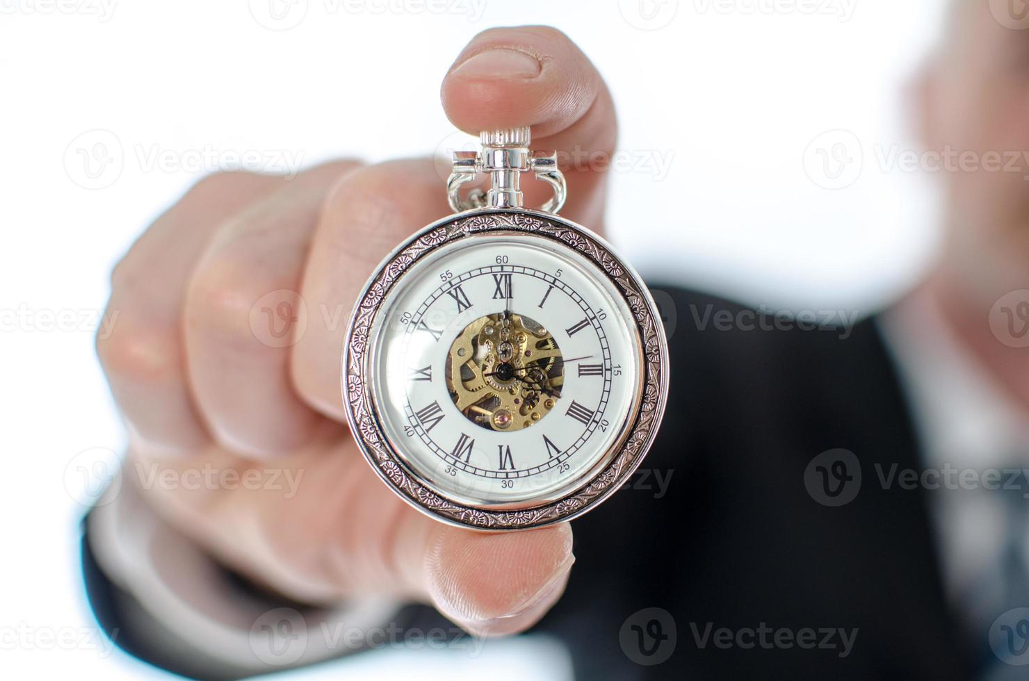 Konzept der Zeit bei der Arbeit foto