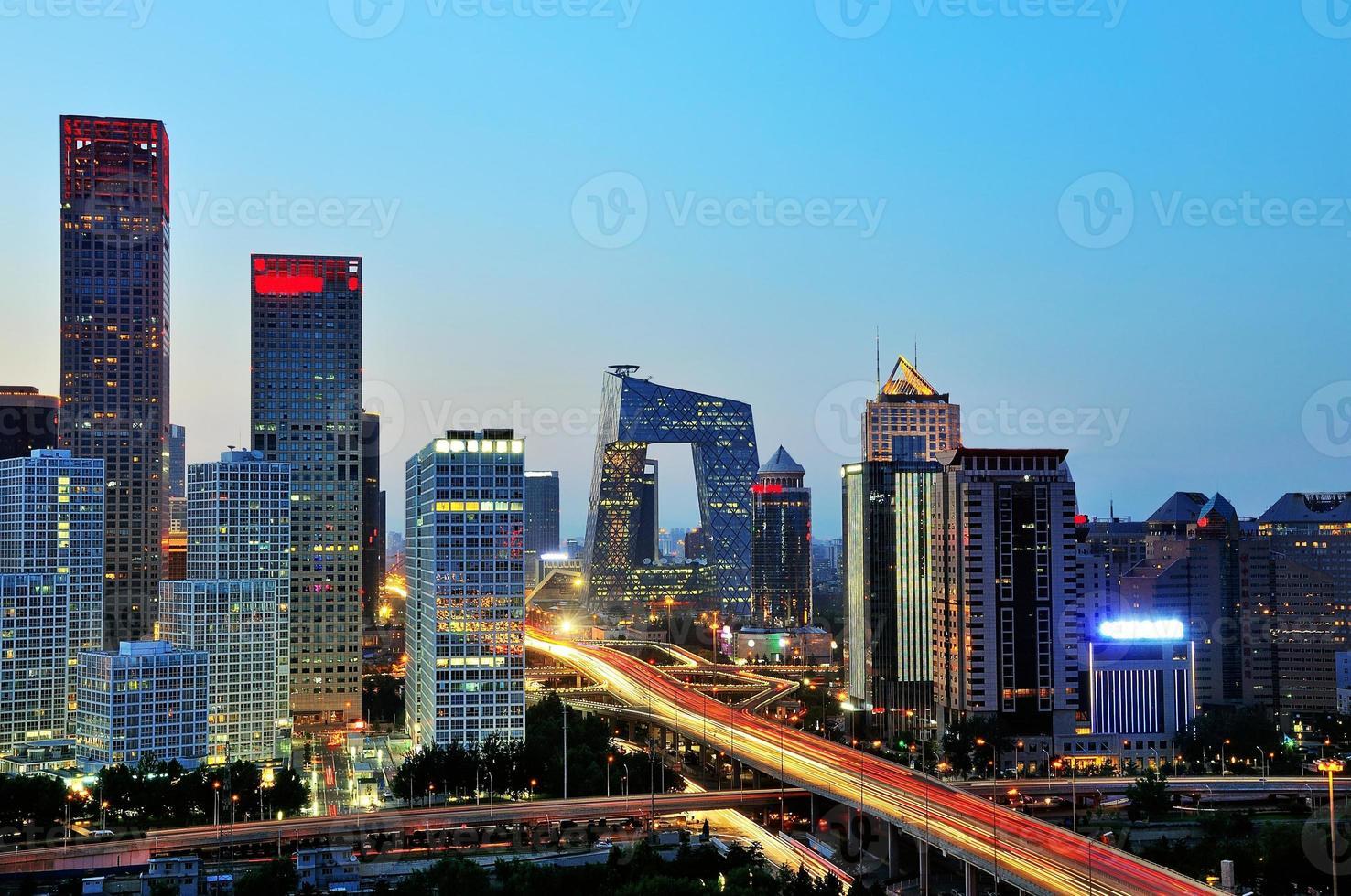 Peking nach Sonnenuntergang-Nacht-Szene von cbd foto