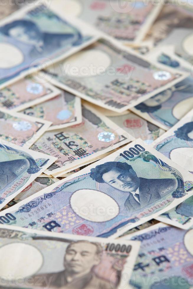 japanische Banknoten, japanischer Yen foto