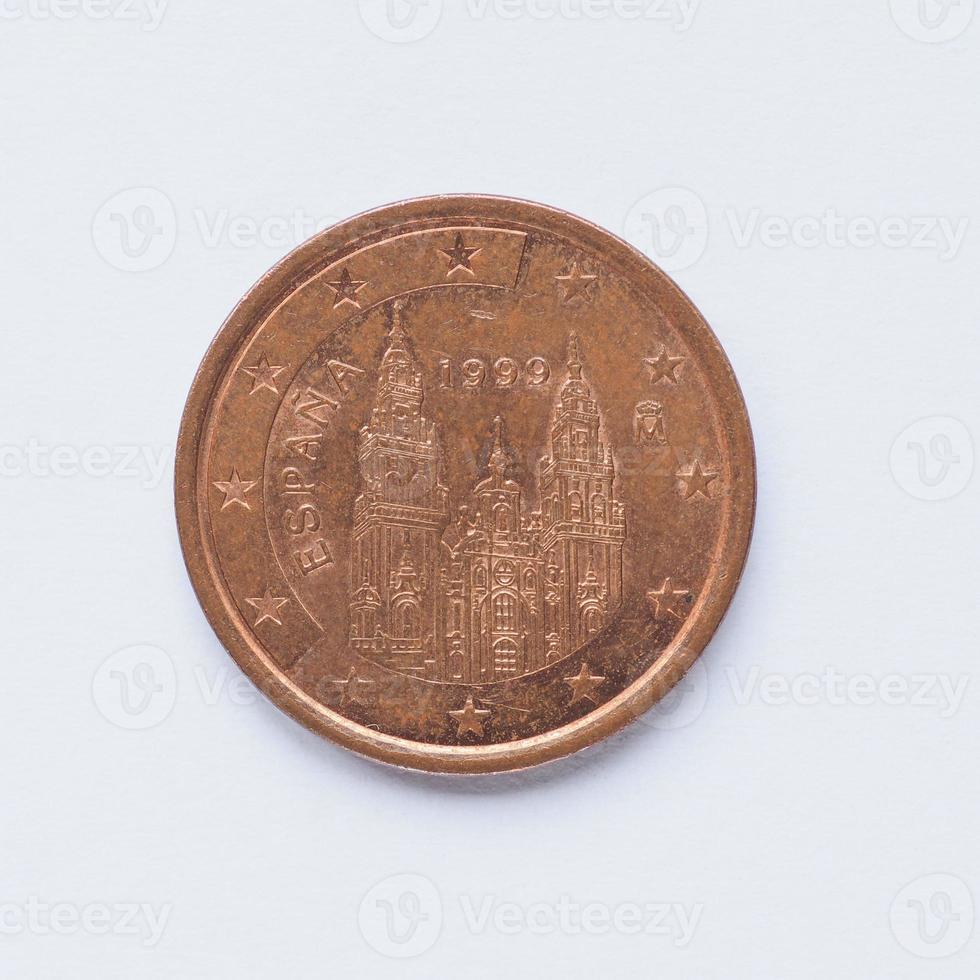 spanische 5 Cent Münze foto
