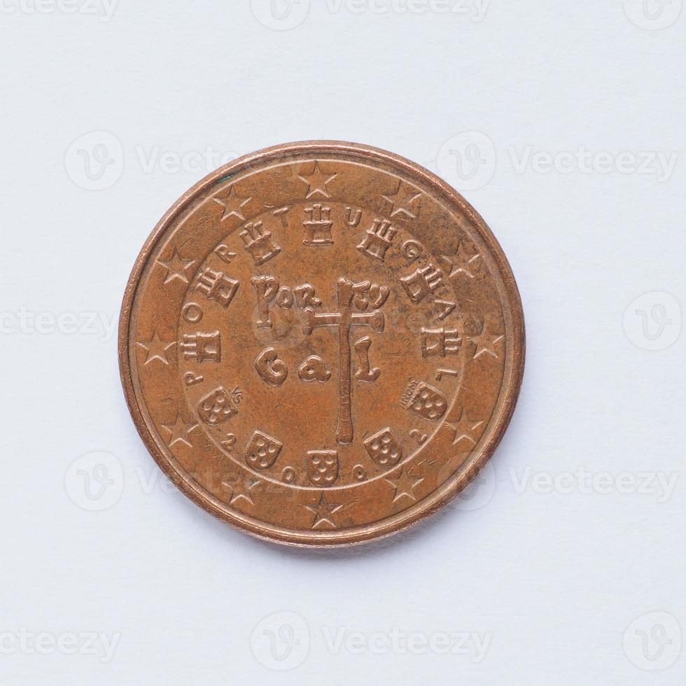 portugiesische 5-Cent-Münze foto
