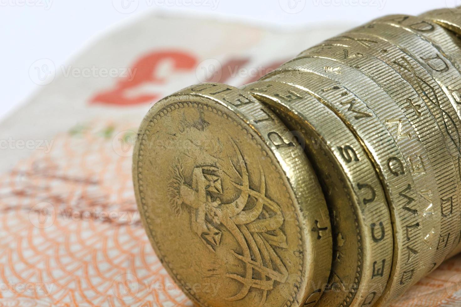 Ein-Pfund-Münzen foto