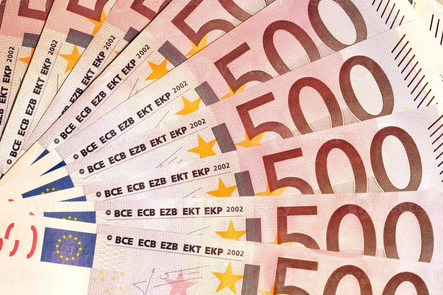 Banknoten von 500 Euro foto