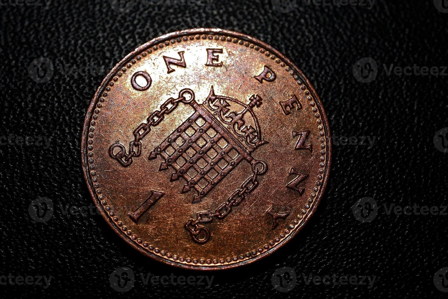 ein Pence Stück foto