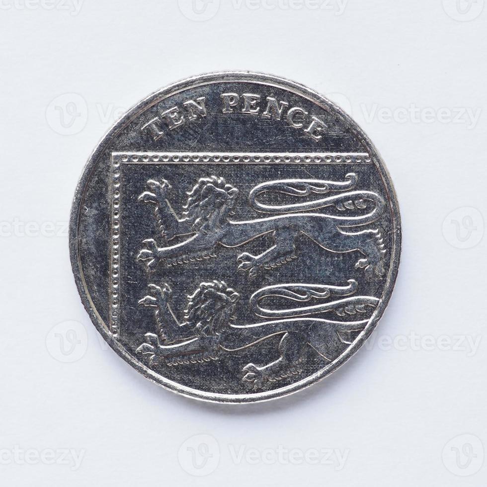 UK 10 Pence Münze foto
