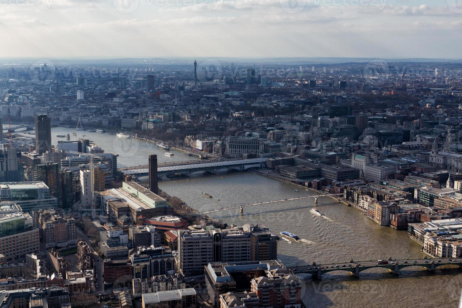 Blick auf die Skyline von London foto