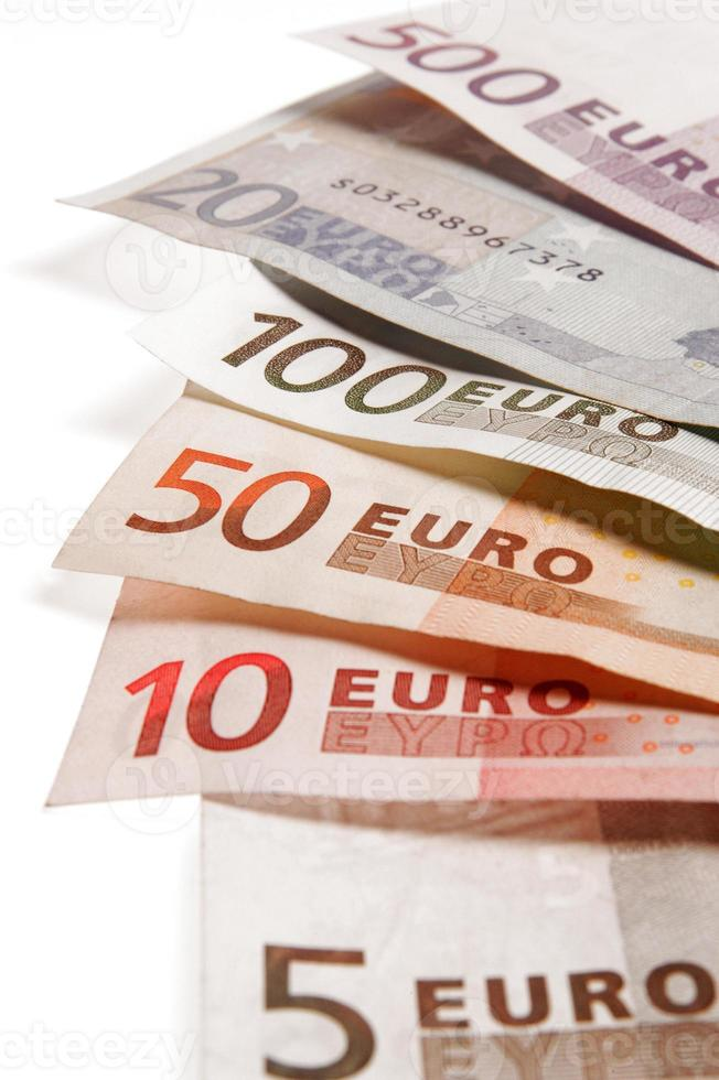 billetes de euro foto