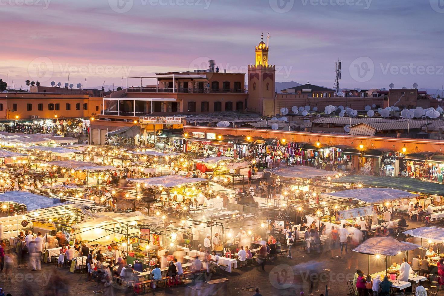 jamaa el fna in marrakesch foto