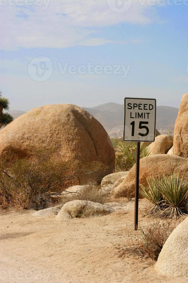 Geschwindigkeitsbegrenzung für Joshua Tree foto