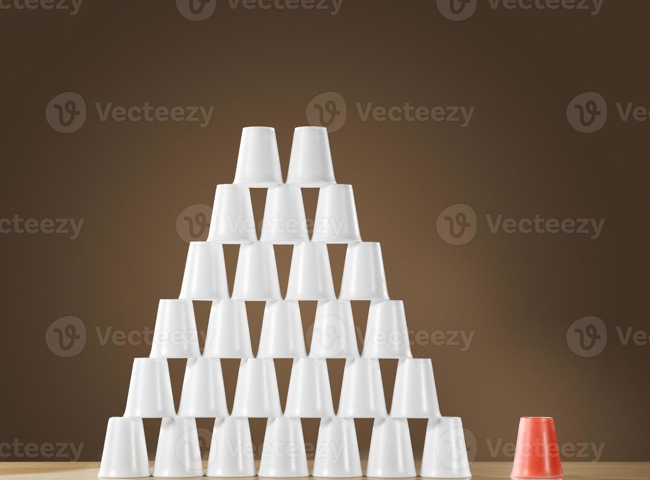Pyramide der Tassen foto