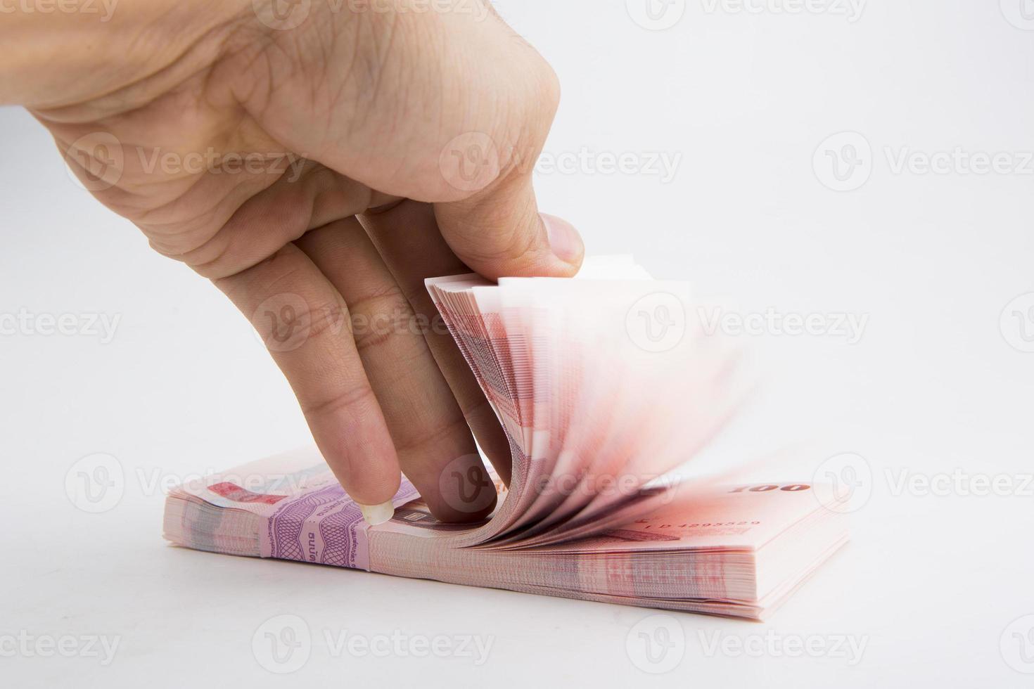 thailändische Baht Banknoten foto