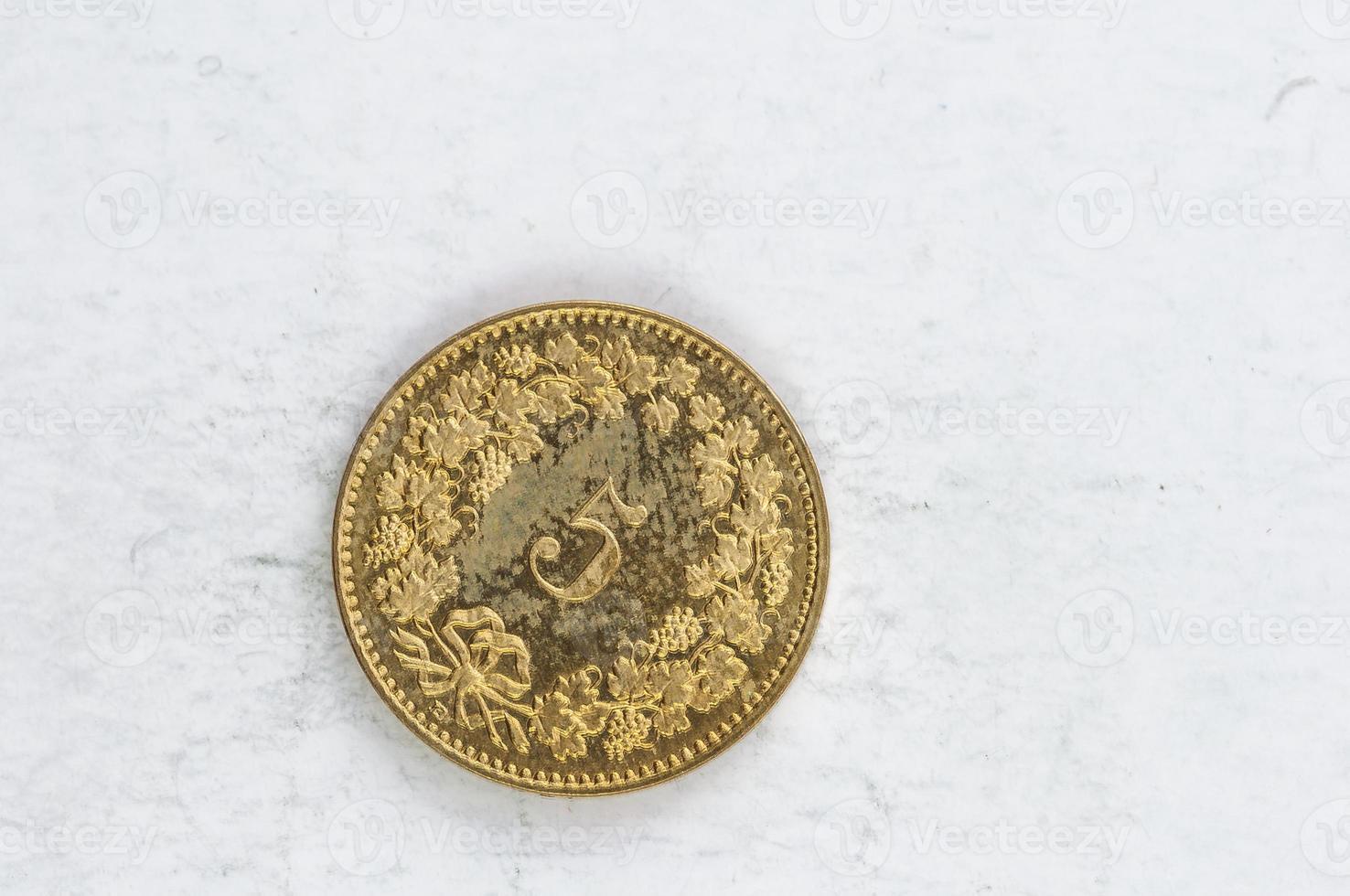 5 schweizer confoederatio helvetica münze silber foto